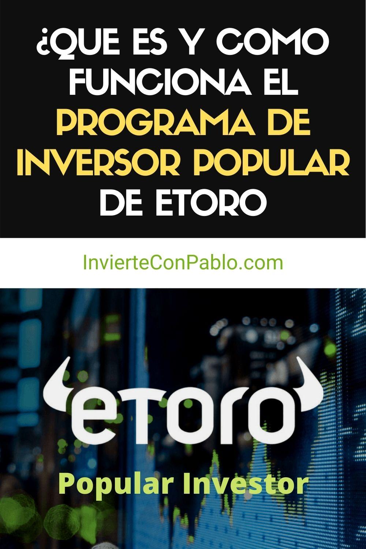 Programa de Inversor Popular de Etoro